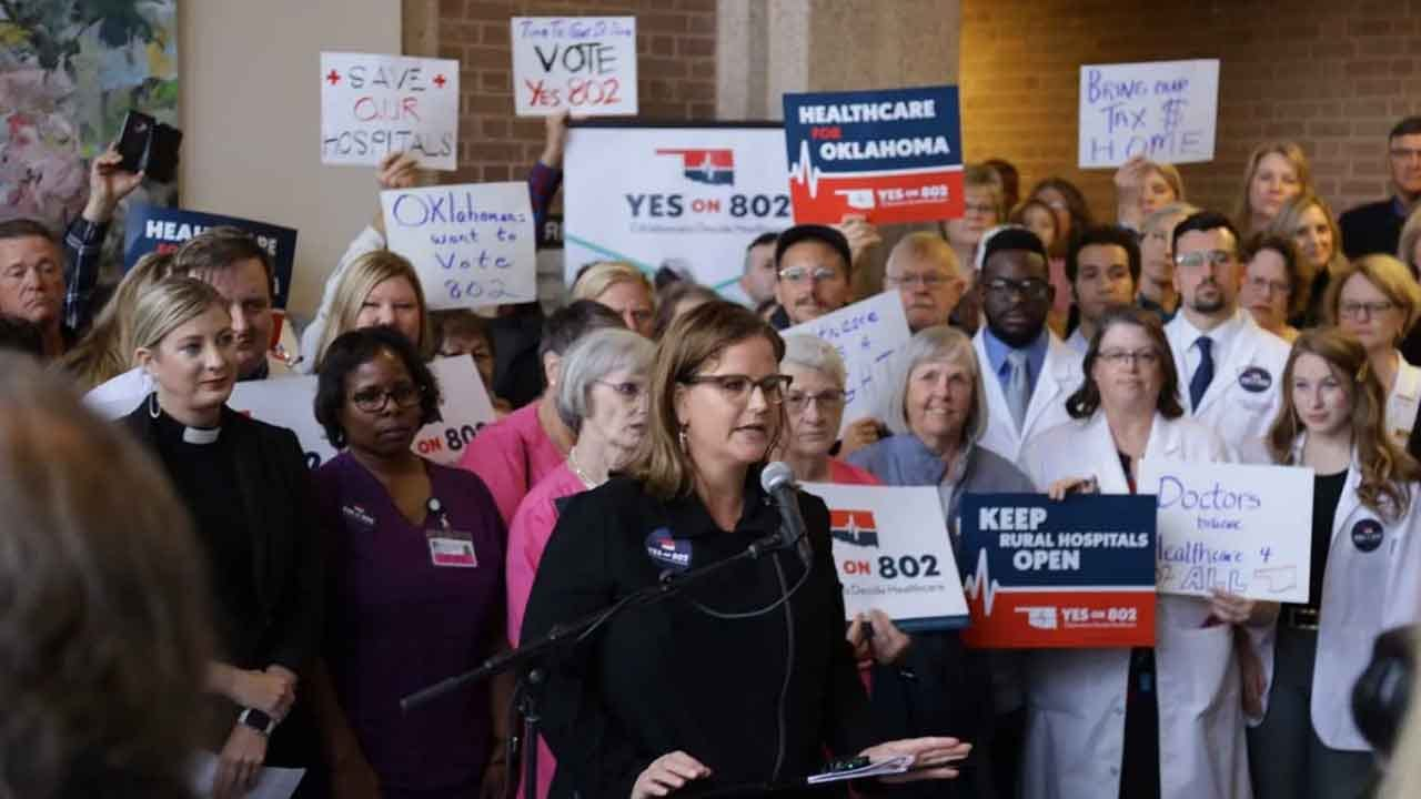 Yes To 802 Campaign Submits Signatures For Oklahoma Medicaid Ballot Question