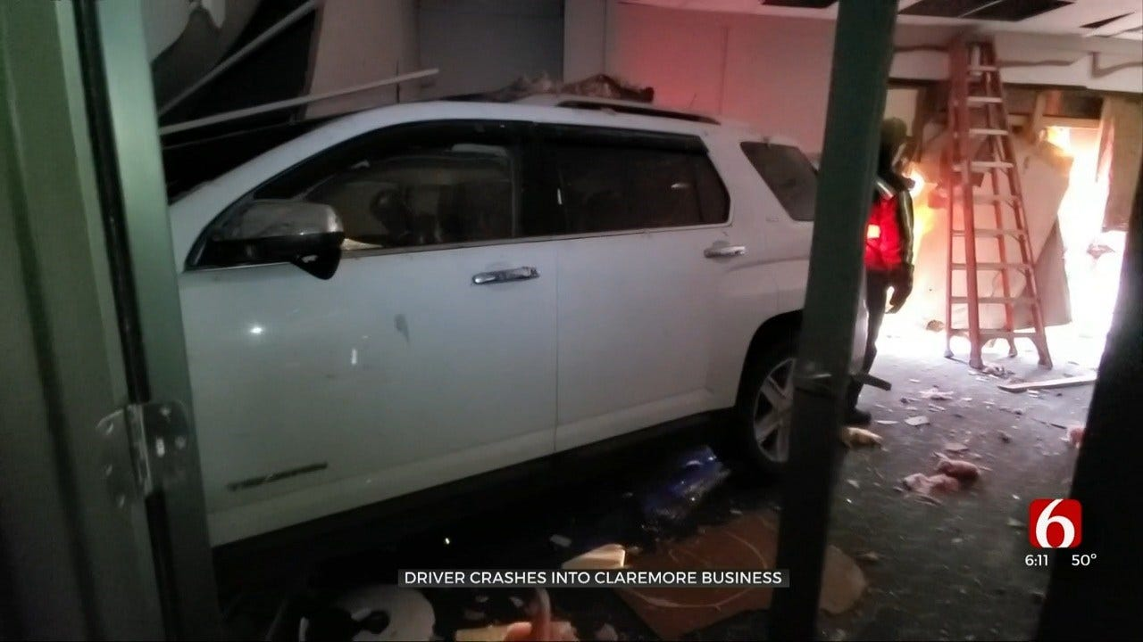 Driver Crashes Into Claremore's Pixley Lumber
