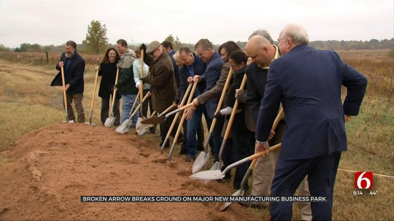 Broken Arrow Breaks Ground On 'Clean' Manufacturing Business Park