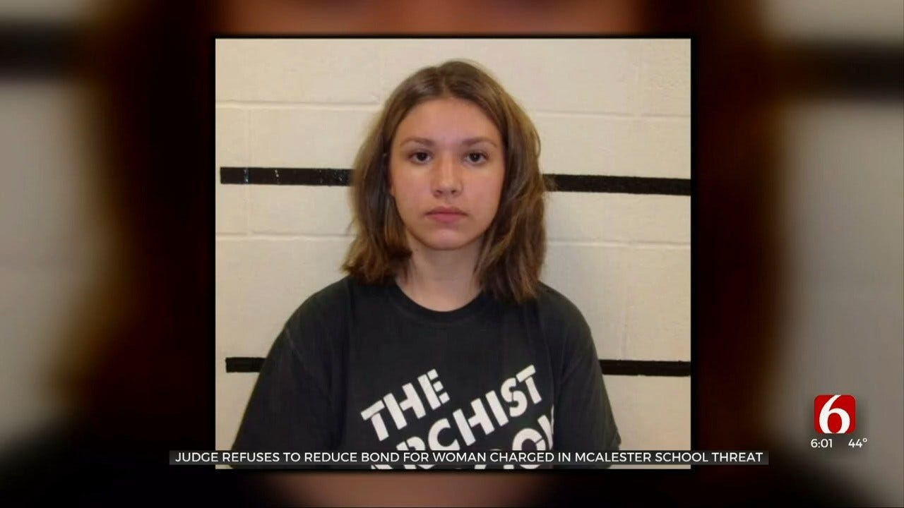 Judge Refuses Bond Reduction For Woman Charged In McAlester School Threat