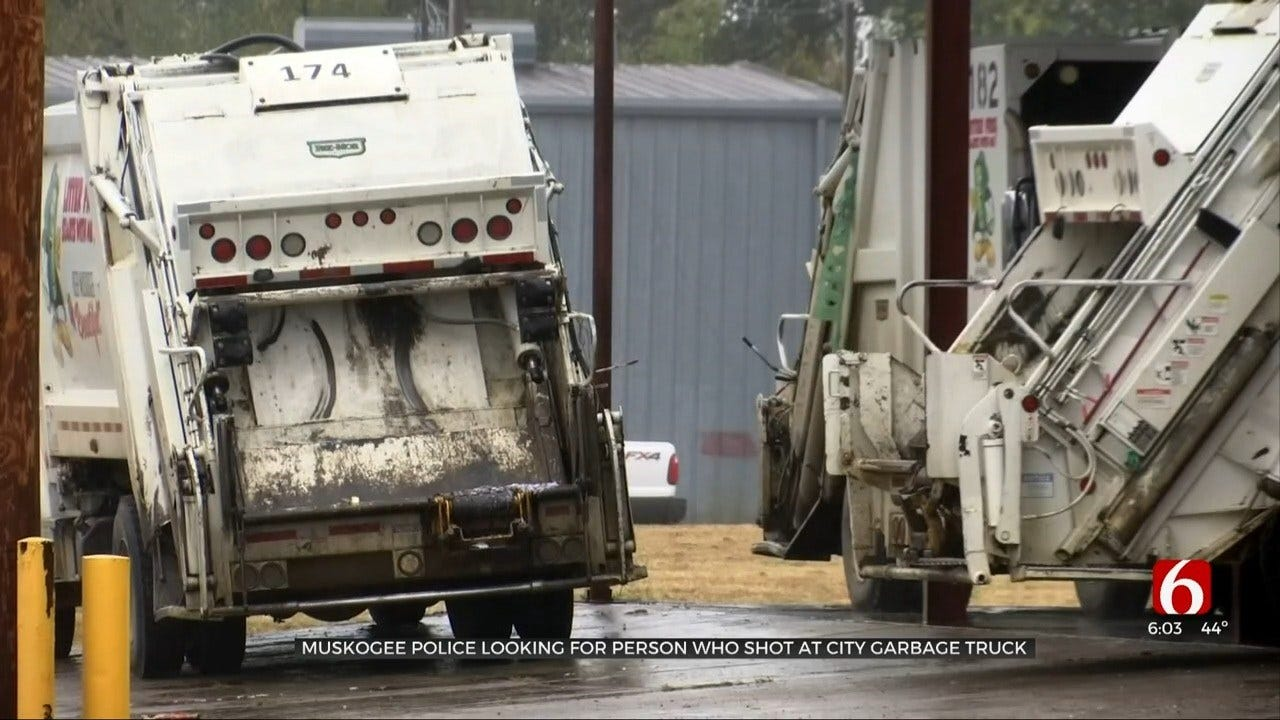 Muskogee Police: Man Fired Shots At City Sanitation Truck