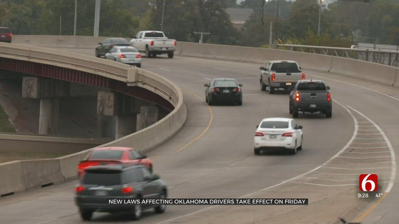 Oklahoma To See New Road Laws Starting Nov. 1
