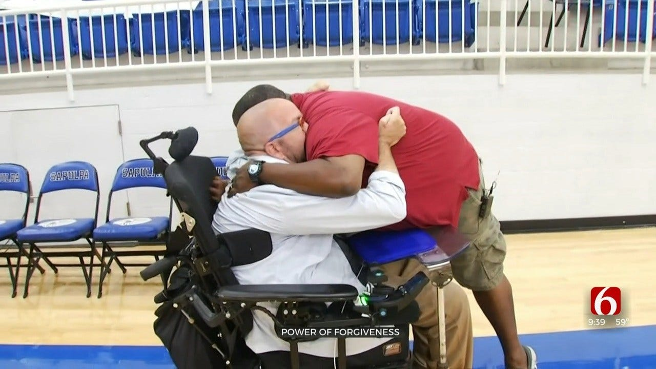 Bartlesville Wrestler Paralyzed In 2000 Reunites With The Opponent Who Injured Him