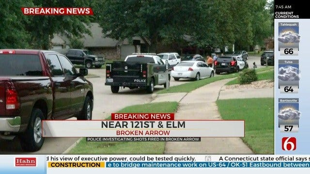 Police Respond To Shots Fired At A Broken Arrow Home