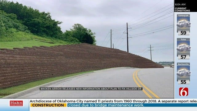 Broken Arrow Releases Information, Plans To Replace Hillside Drive Retaining Wall