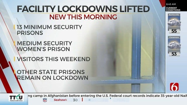 DOC Lifts Lockdown At Some Oklahoma Prisons & Facilities