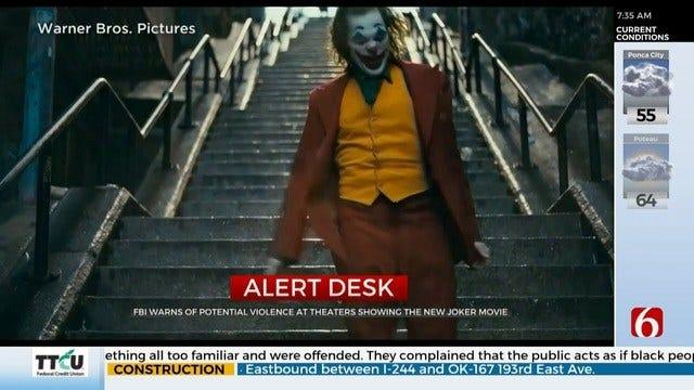 FBI Warns Of Potential Violence At 'Joker' Screenings