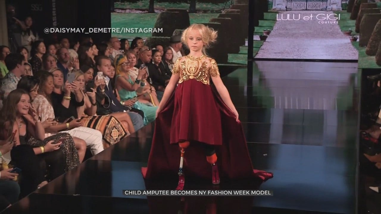 9-Year-Old Double-Amputee Walks The Runway At New York Fashion Week