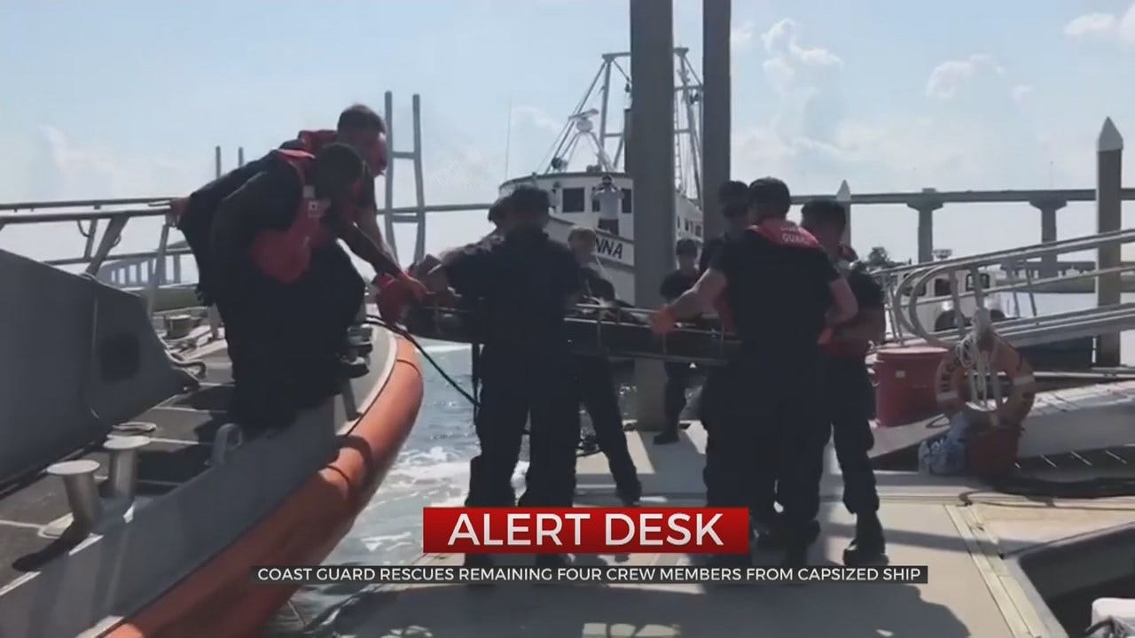 All Crew Member Rescued From Capsized Cargo Ship