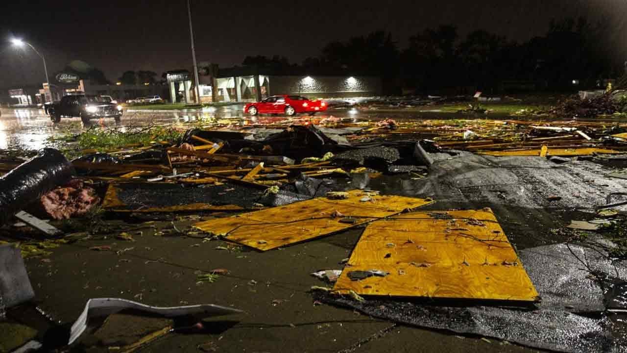 Tornado Leaves Path Of Damage Overnight In Sioux Falls, South Dakota