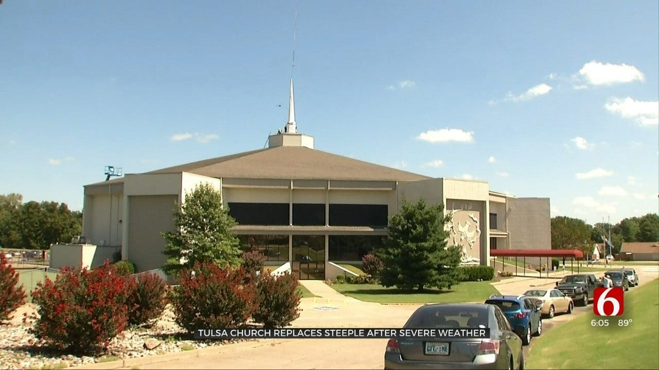 Tulsa Church Finally Replaces Steeple After Spring Tornado