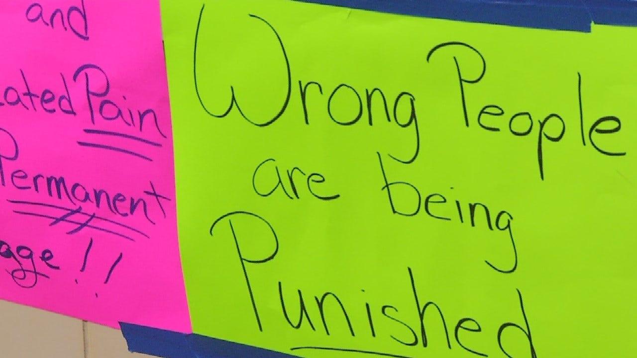 Oklahoma Protestors Say They Need Pain Medication