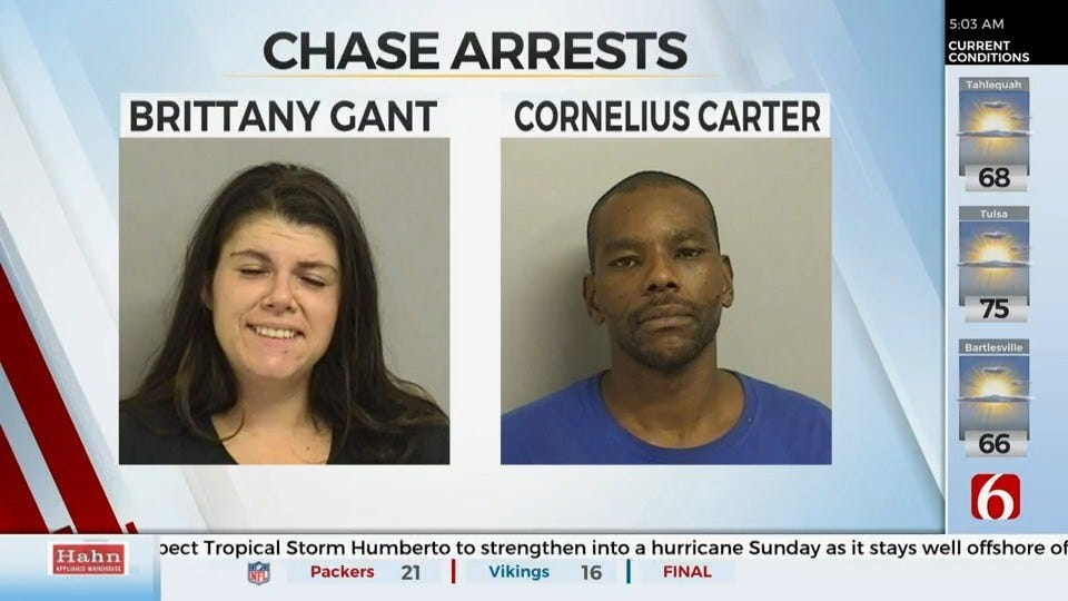 2 Arrested After Stealing Seafood and Chase, Tulsa Police Say