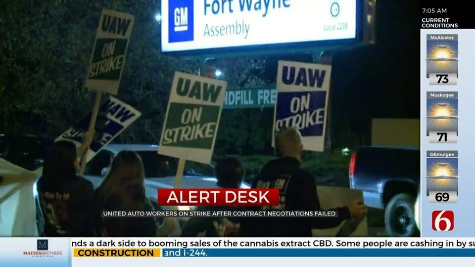 Auto Workers Strike in Contract Dispute With GM