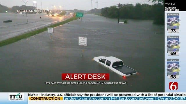 Houston Area Experiences Widespread Flooding From Tropical Storm Imelda