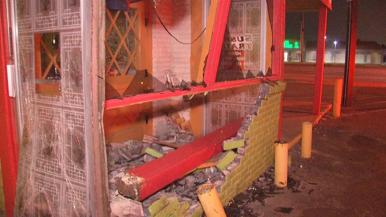 Drunk Driver Smashes Into Tulsa Sushi Restaurant, No Injuries
