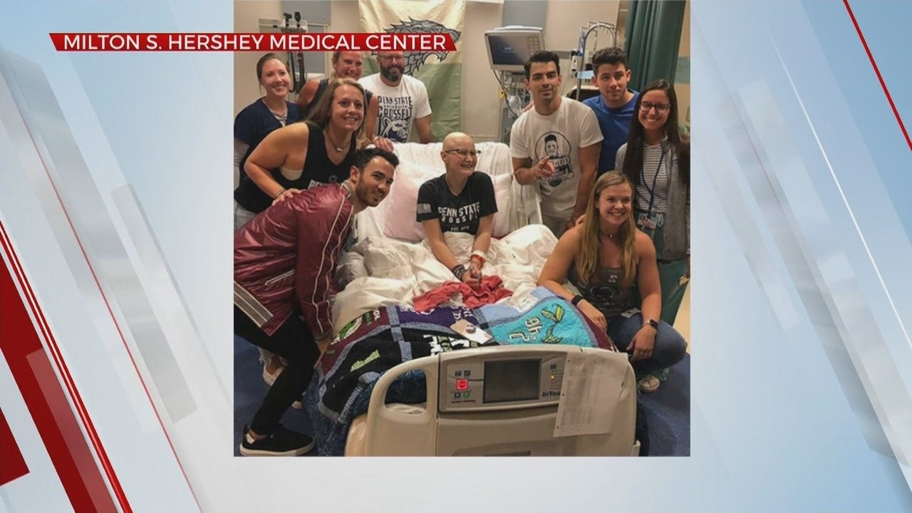 Jonas Brothers Surprise Fan At Hospital After She Had To Miss Concert For Chemotherapy Treatment