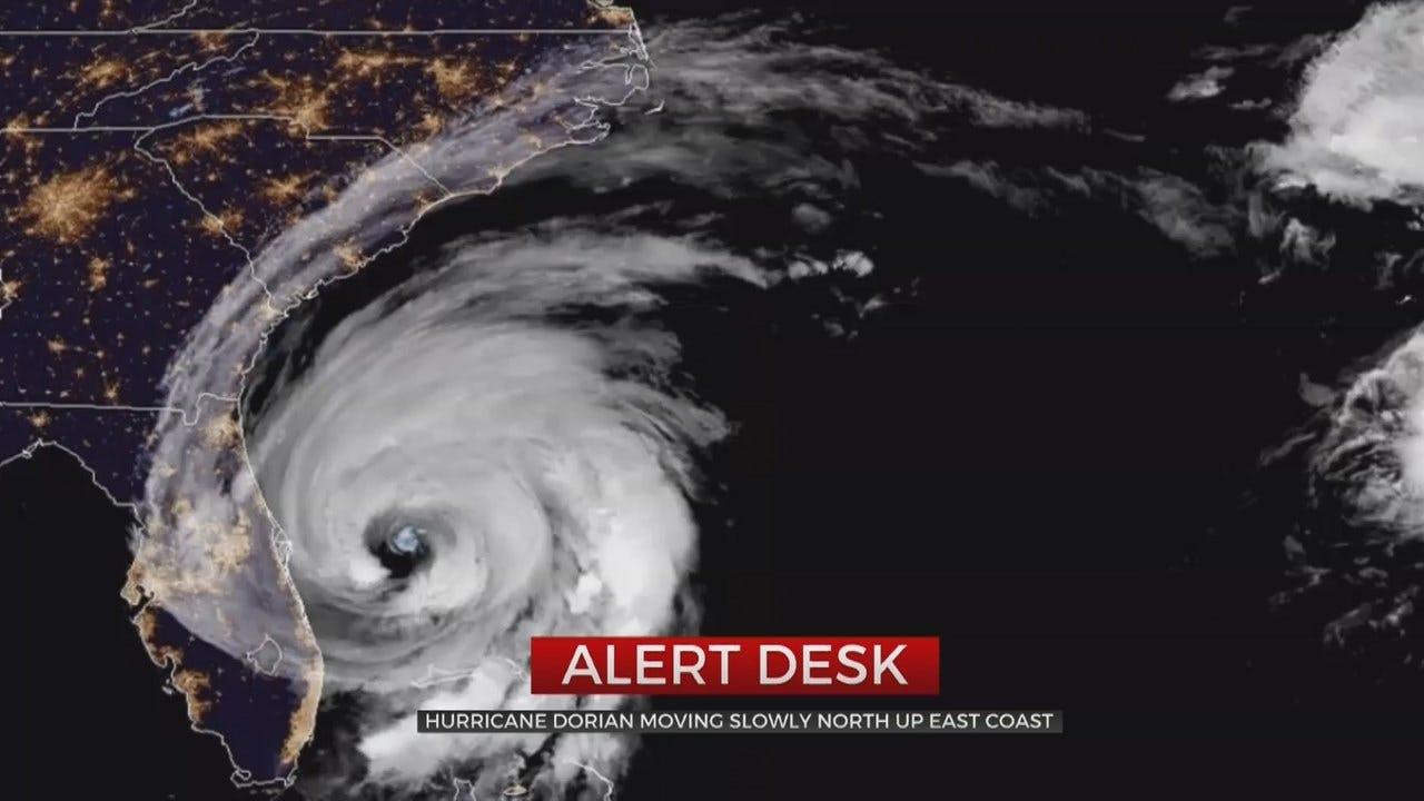Hurricane Dorian Slowly Moves Up Atlantic Seaboard