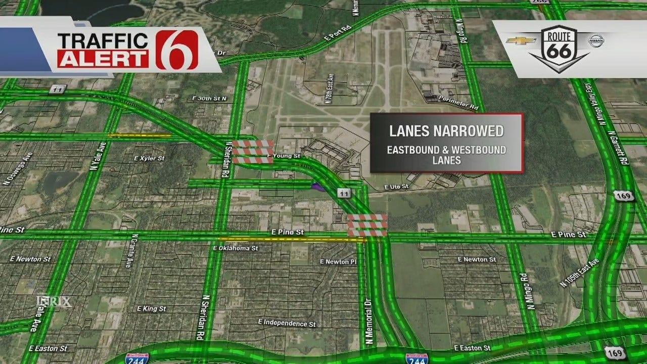 Lane, Ramp Closures To Impact Tulsa Drivers