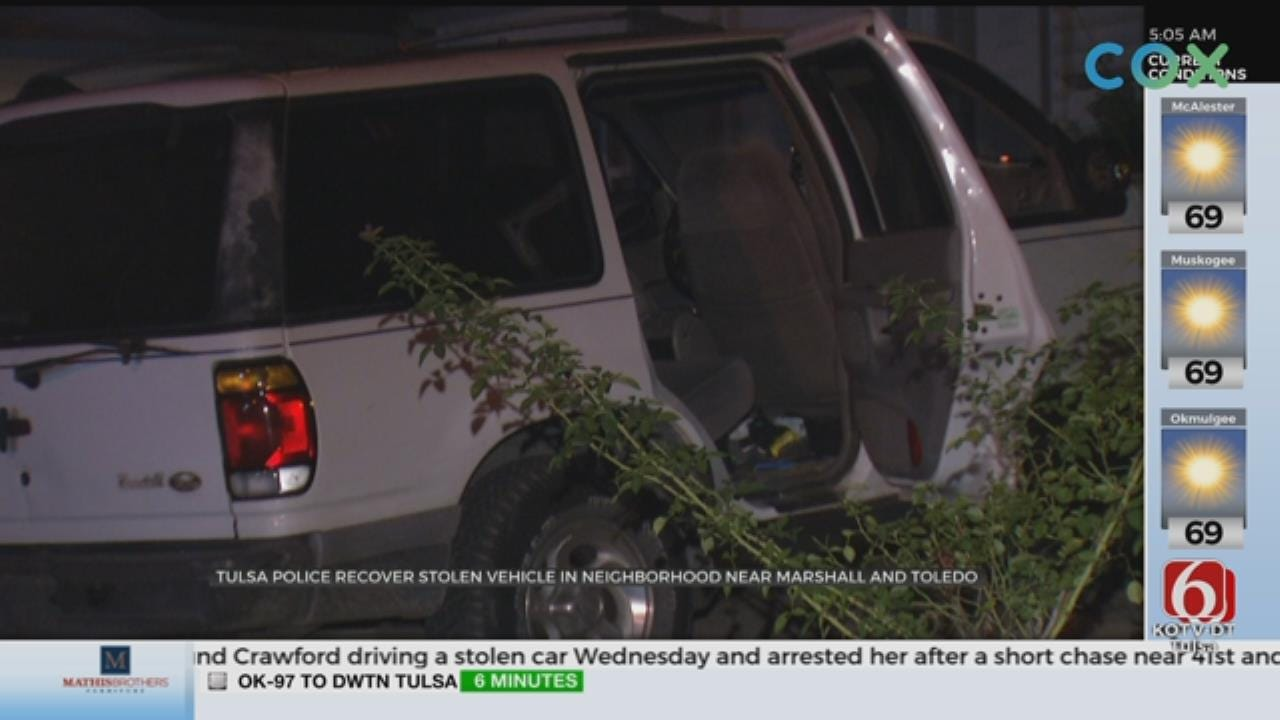 Tulsa Police Recover Stolen Car, Search For Suspects