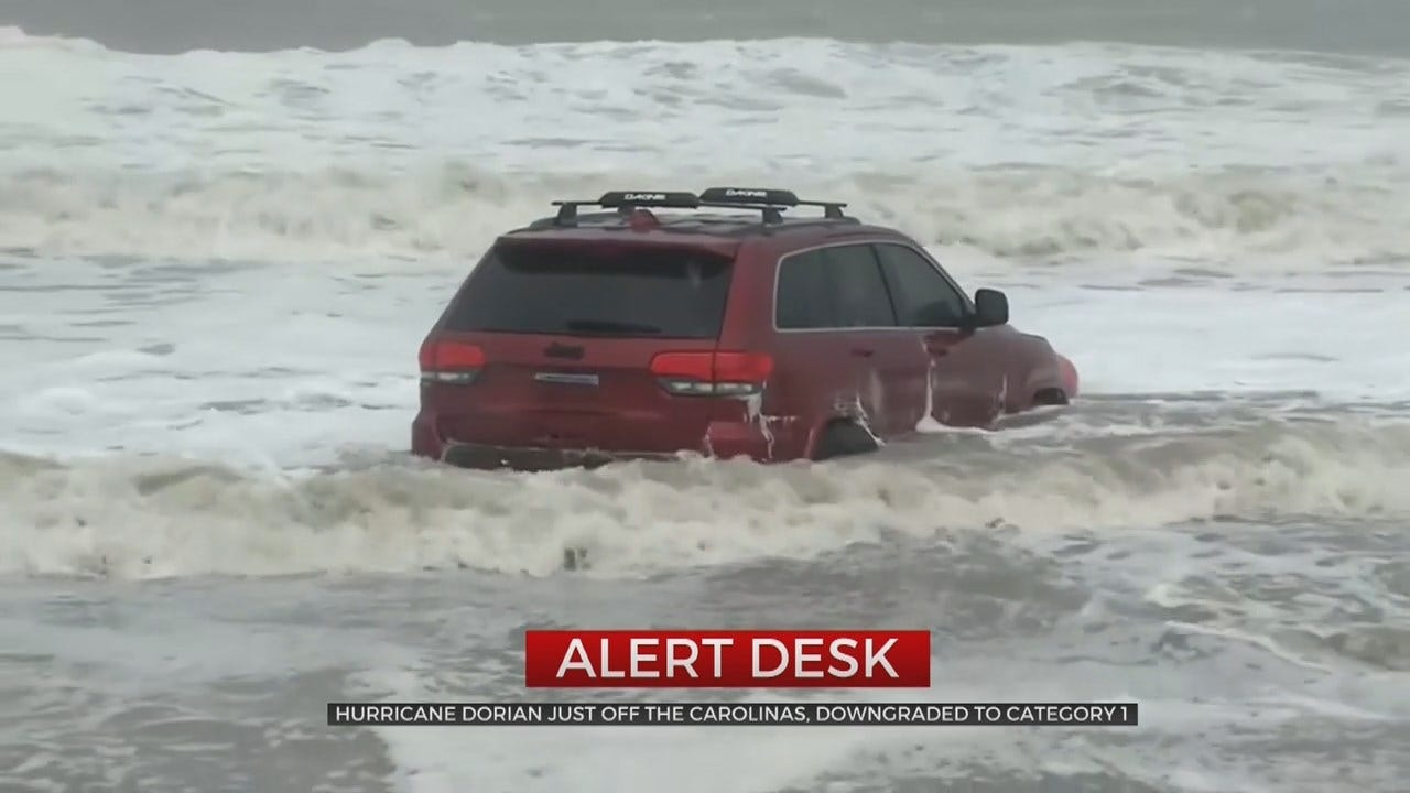 Hurricane Dorian Weakens As It Moves Up the Coast