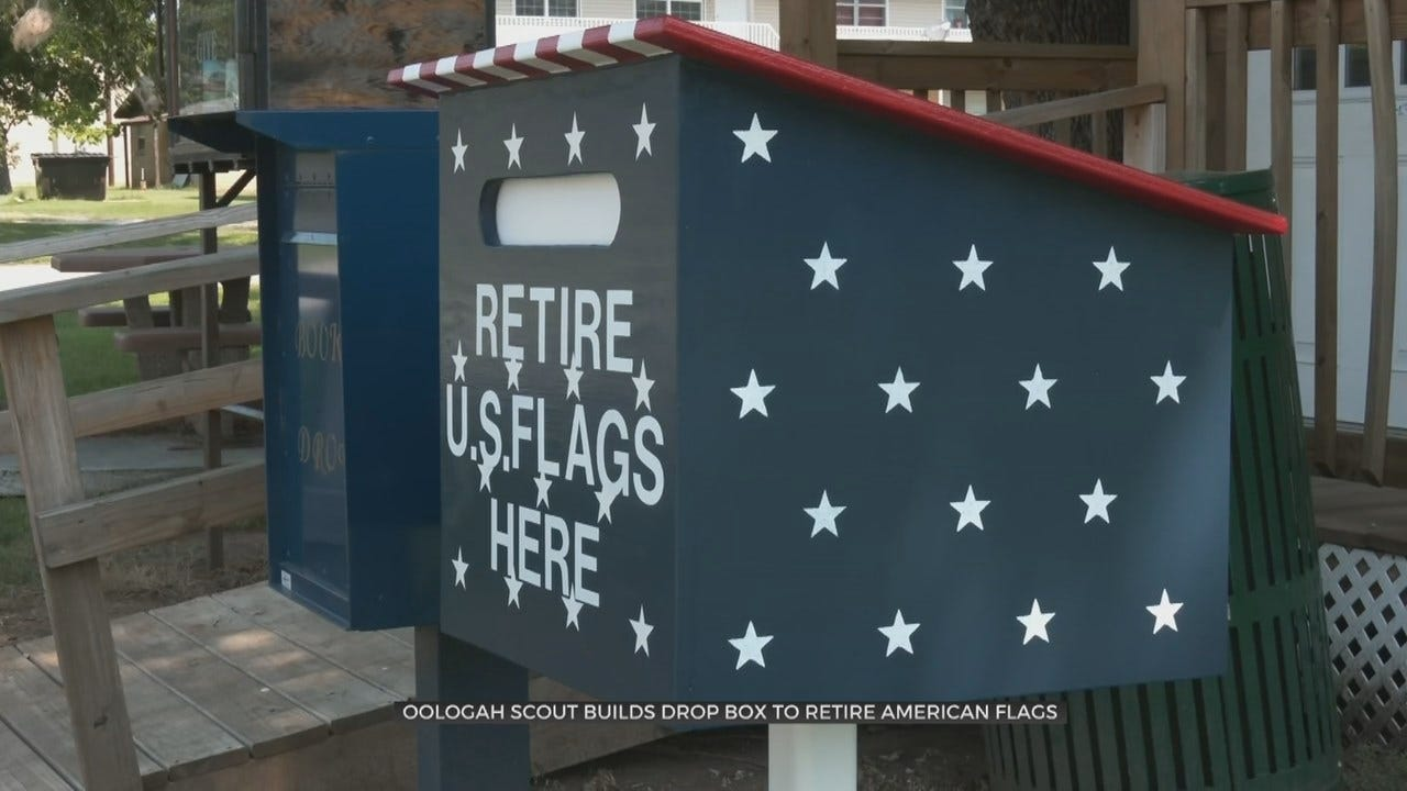 Oologah Eagle Scouts Create New Way To Retire American Flags
