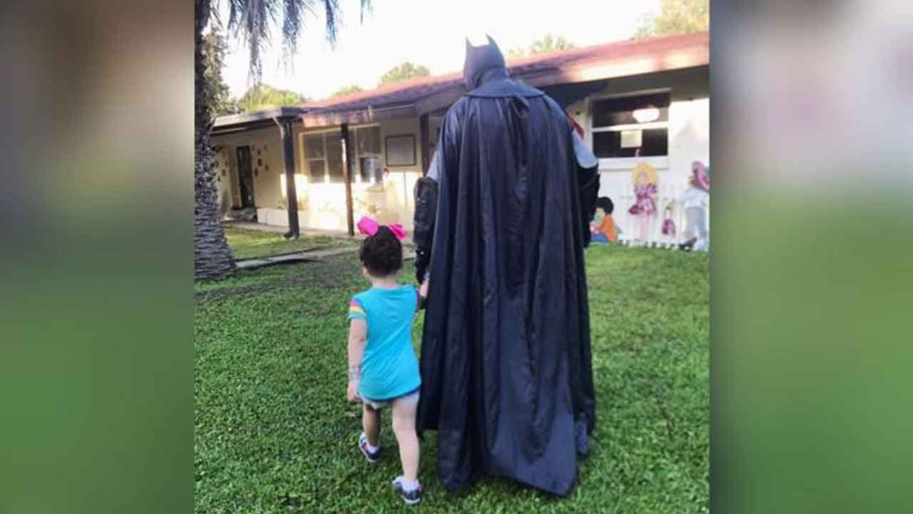Batman Walks Bullied 3-Year-Old Girl To School To Help Her Feel Safe
