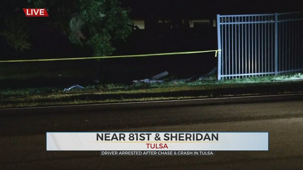 1 Arrested After Chase, Crashing Into Holland Hall Fence
