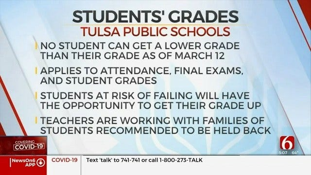 Tulsa Public Schools Waive Testing, Grades For Remainder Of Semester