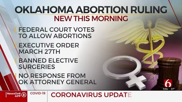 Federal Appeals Court Rules Abortions Can Continue During Coronavirus Pandemic