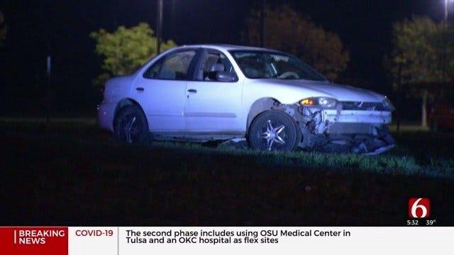 Tulsa Police Search For Teens After Crash Involving Stolen Car
