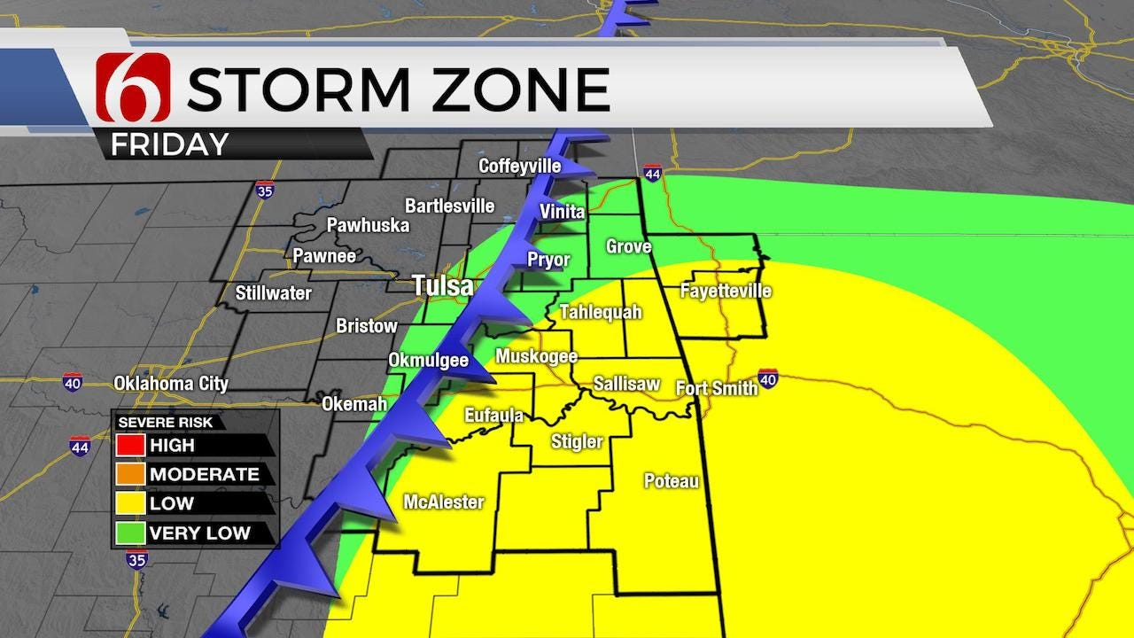 Storms Enter Northeastern Oklahoma Hail Wind Primary Threats
