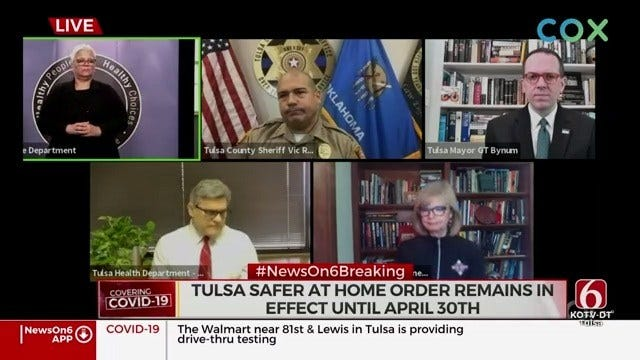 WATCH: Mayor Bynum, Tulsa Area Leaders Give Update On Coronavirus Response