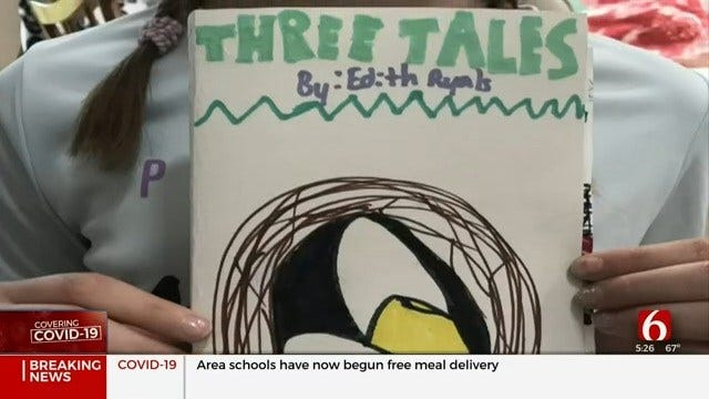 Justus-Tiawah 4th Grader Writing Book About COVID-19