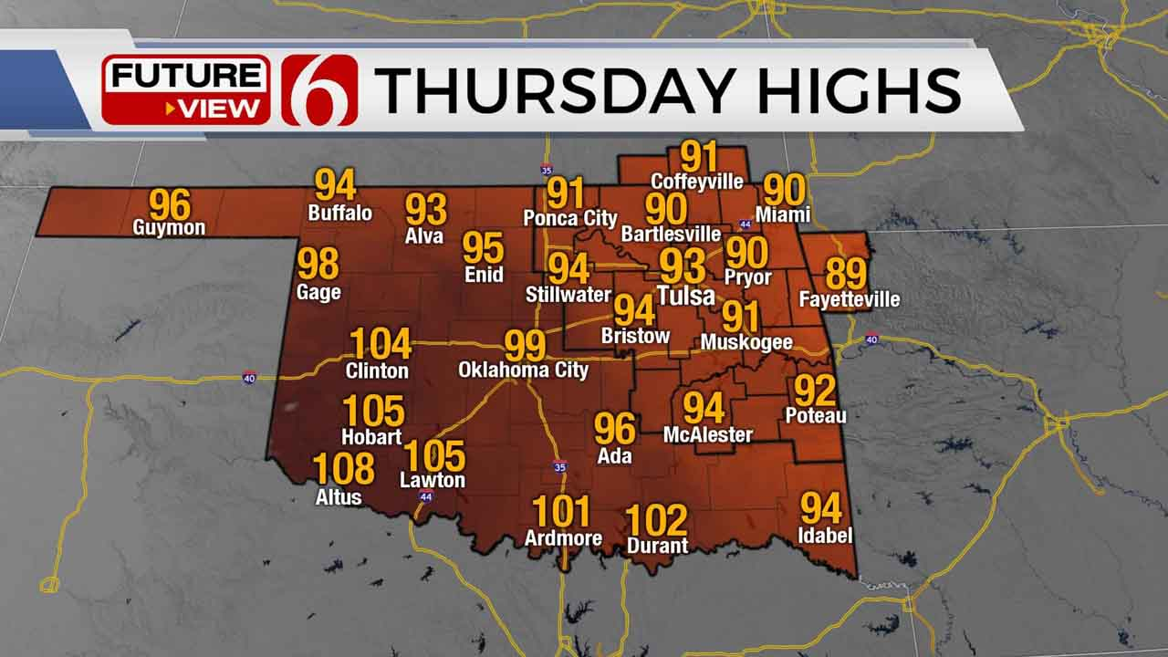 Morning Storms And Afternoon Humidity For Northeastern Oklahoma