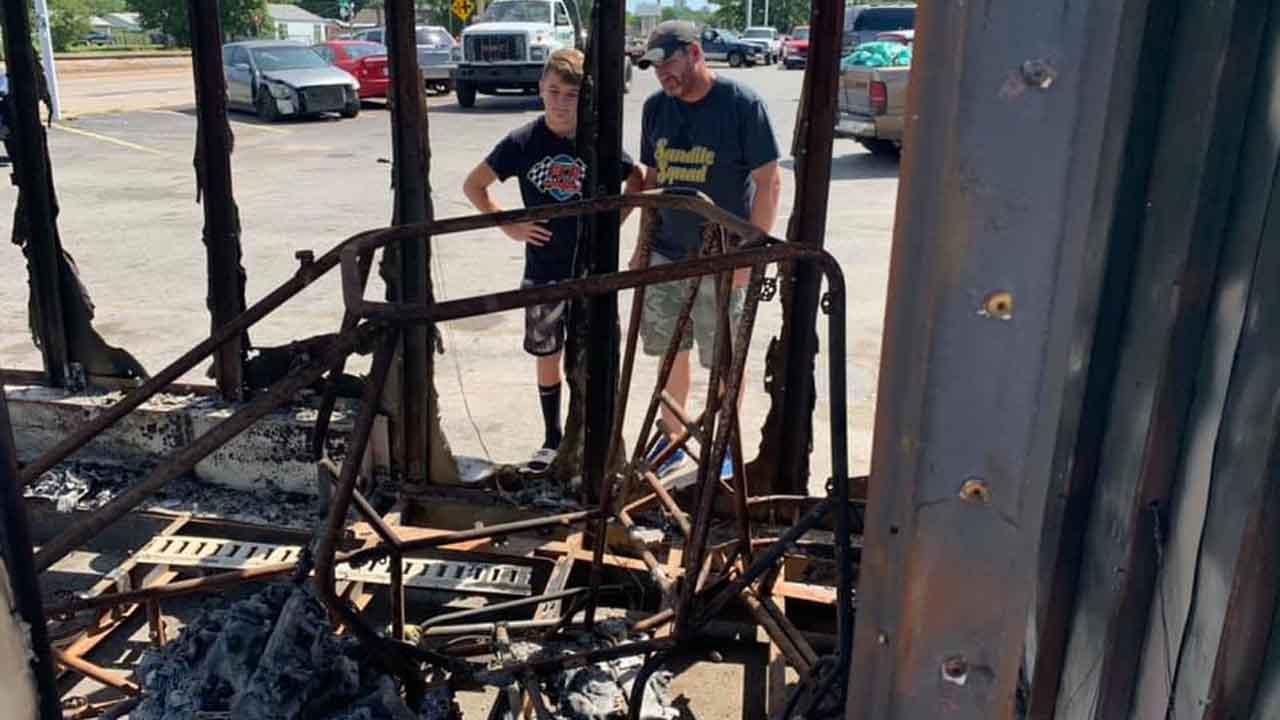 12-Year-Old's Race Car Destroyed After Trailer Stolen, Burned