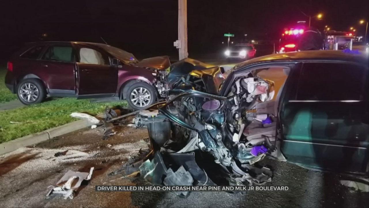 Driver Killed In Head-On Crash Near Pine And MLK, Tulsa Police Say