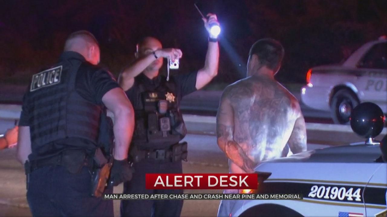 1 In Custody After Pursuit, Crash, Tulsa Police Say