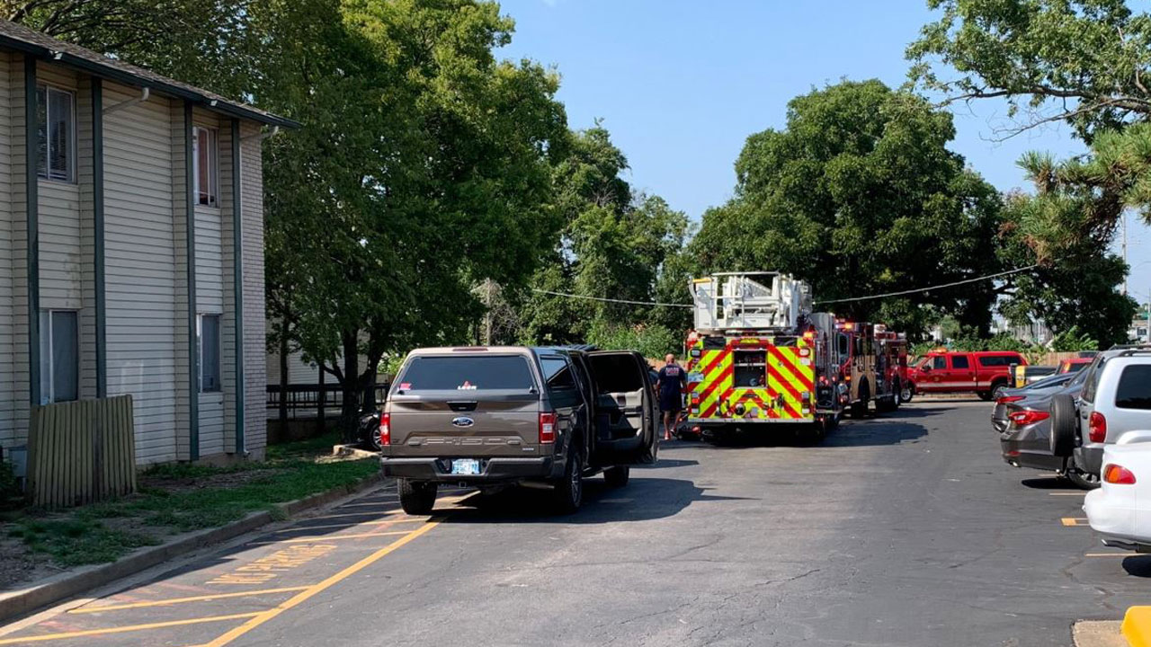 Tulsa Firefighters Battled Apartment Fire