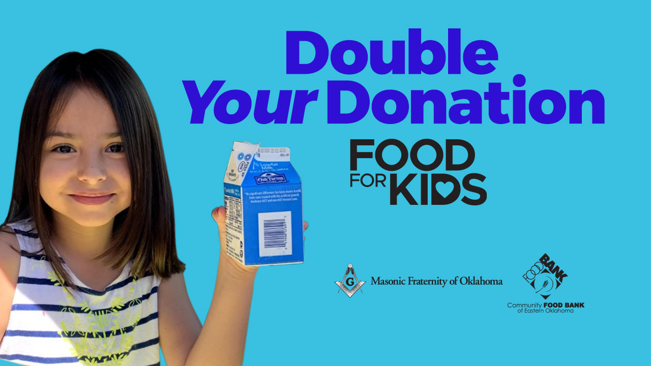 Food For Kids Gets Donation Match From Masonic Fraternity Of Oklahoma