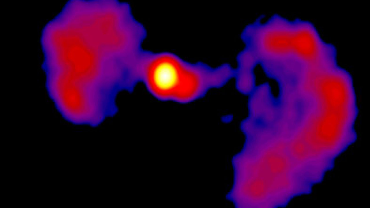NASA Finds Active Galaxy Far, Far Away That Looks Like A 'Star Wars' TIE Fighter