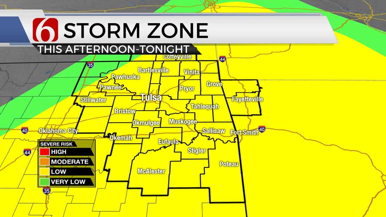 Severe weather chances for Monday.