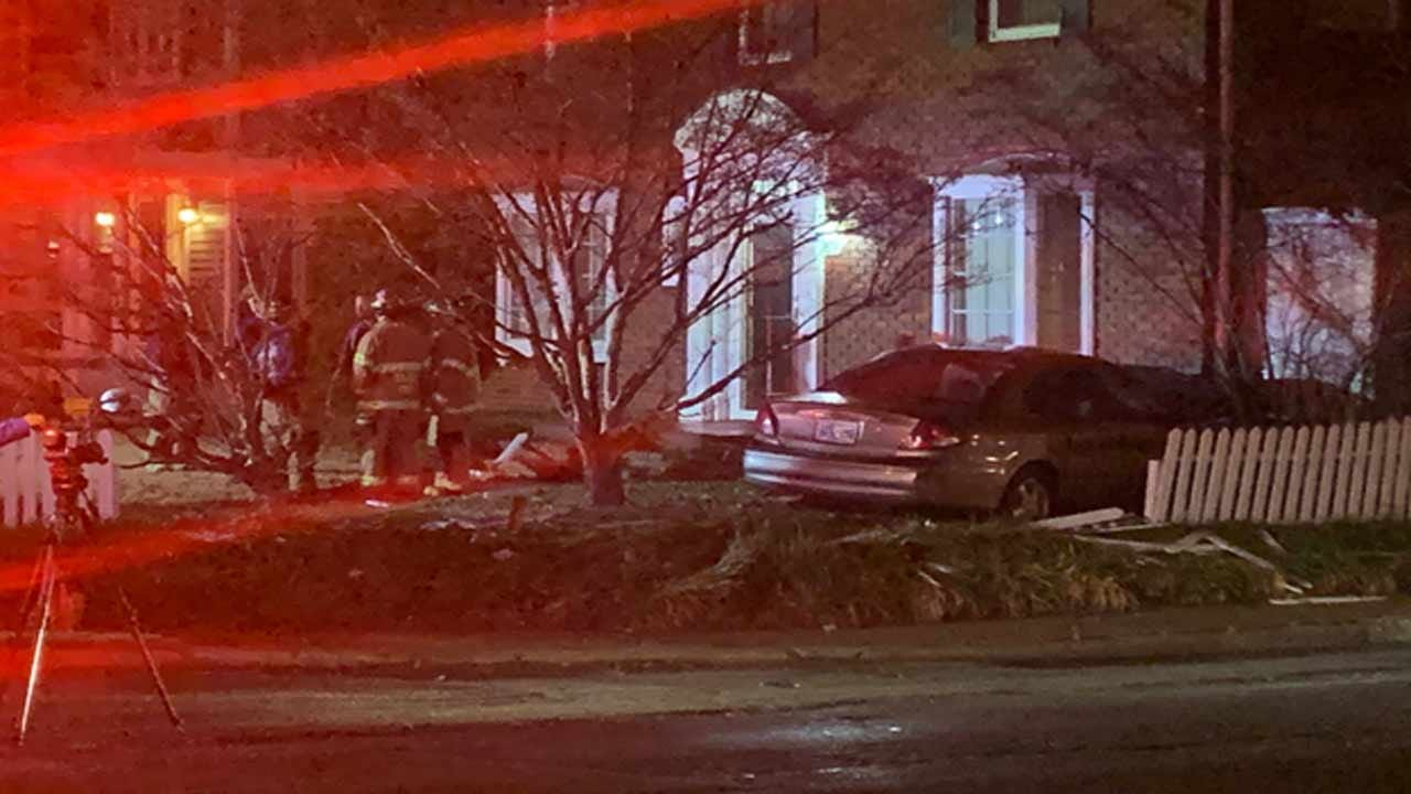 Tulsa Fire: No Injuries After Driver Crashes Into Tulsa Home