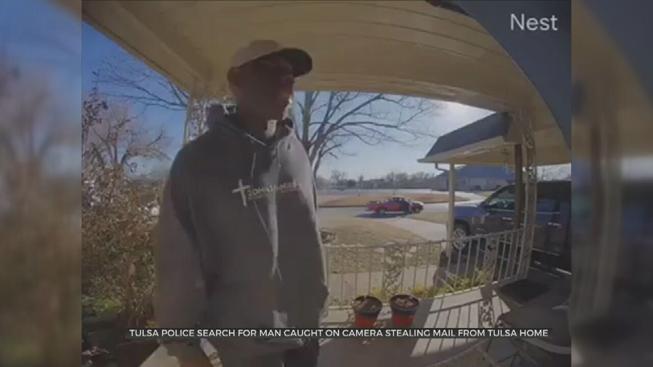 Police Search For Man Caught On Camera Stealing Mail