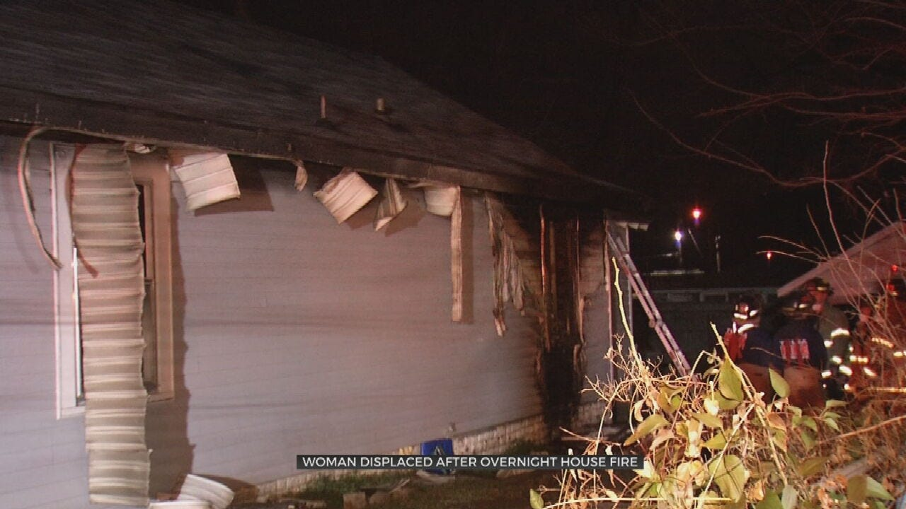 Tulsa Woman Displaced After House Fire