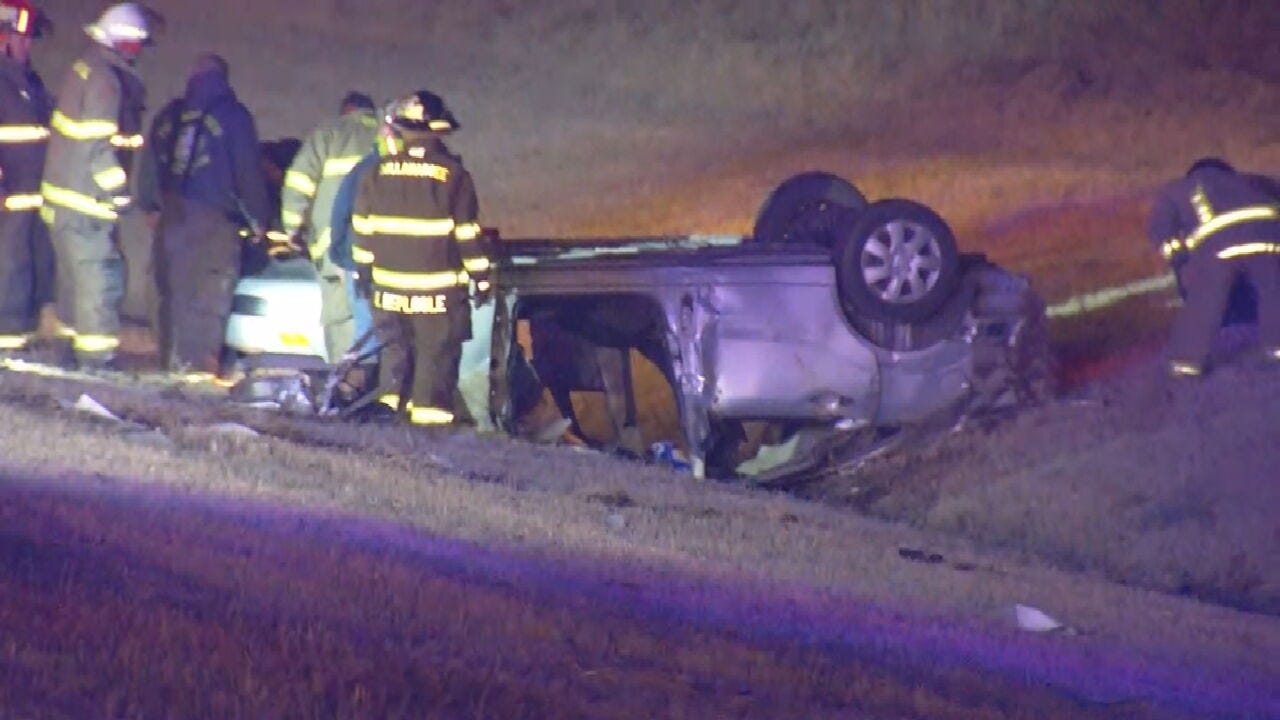 Police Chase Spanning 3 Counties Ends With Rollover Crash