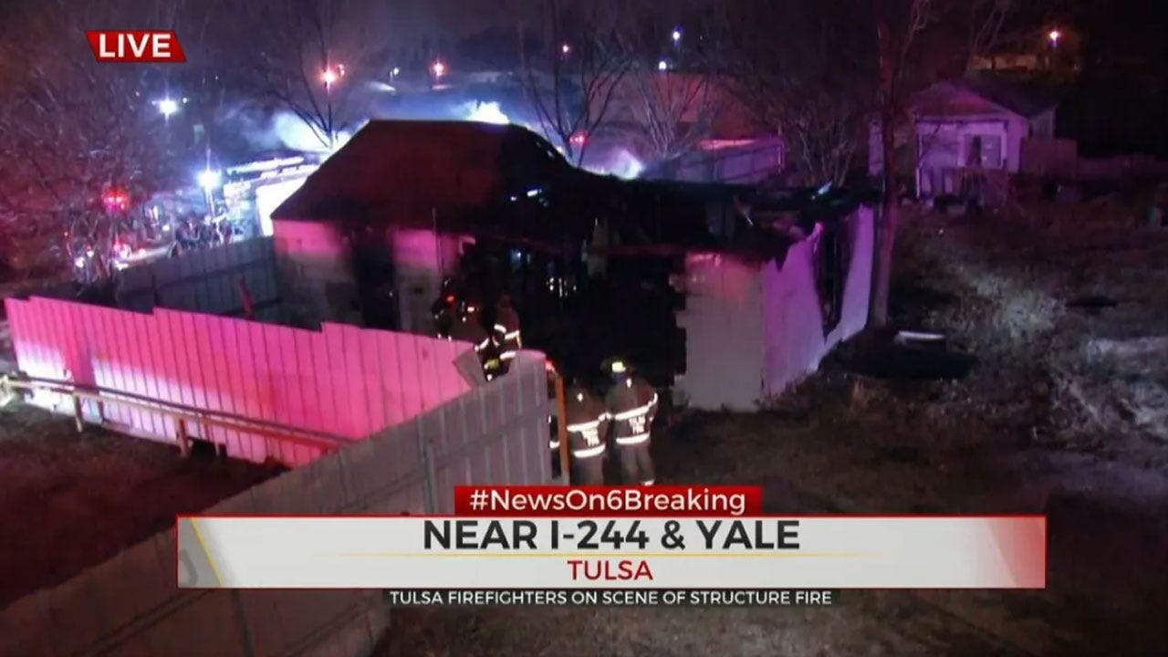 Firefighters Knock Down Structure Fire Near I-244, Yale