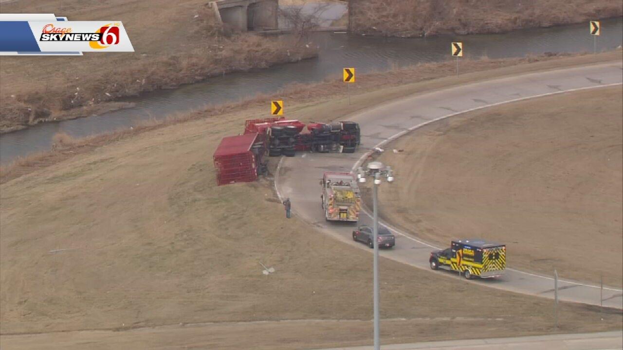 Update: Highway 169 Off-Ramp Re-Opened After Truck Overturns