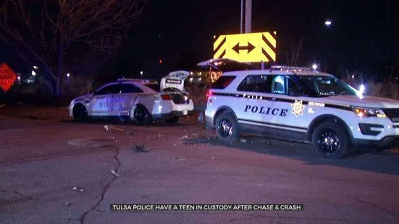 Police: 16-Year-Old In Custody After Pursuit In Stolen Vehicle Ends In Crash