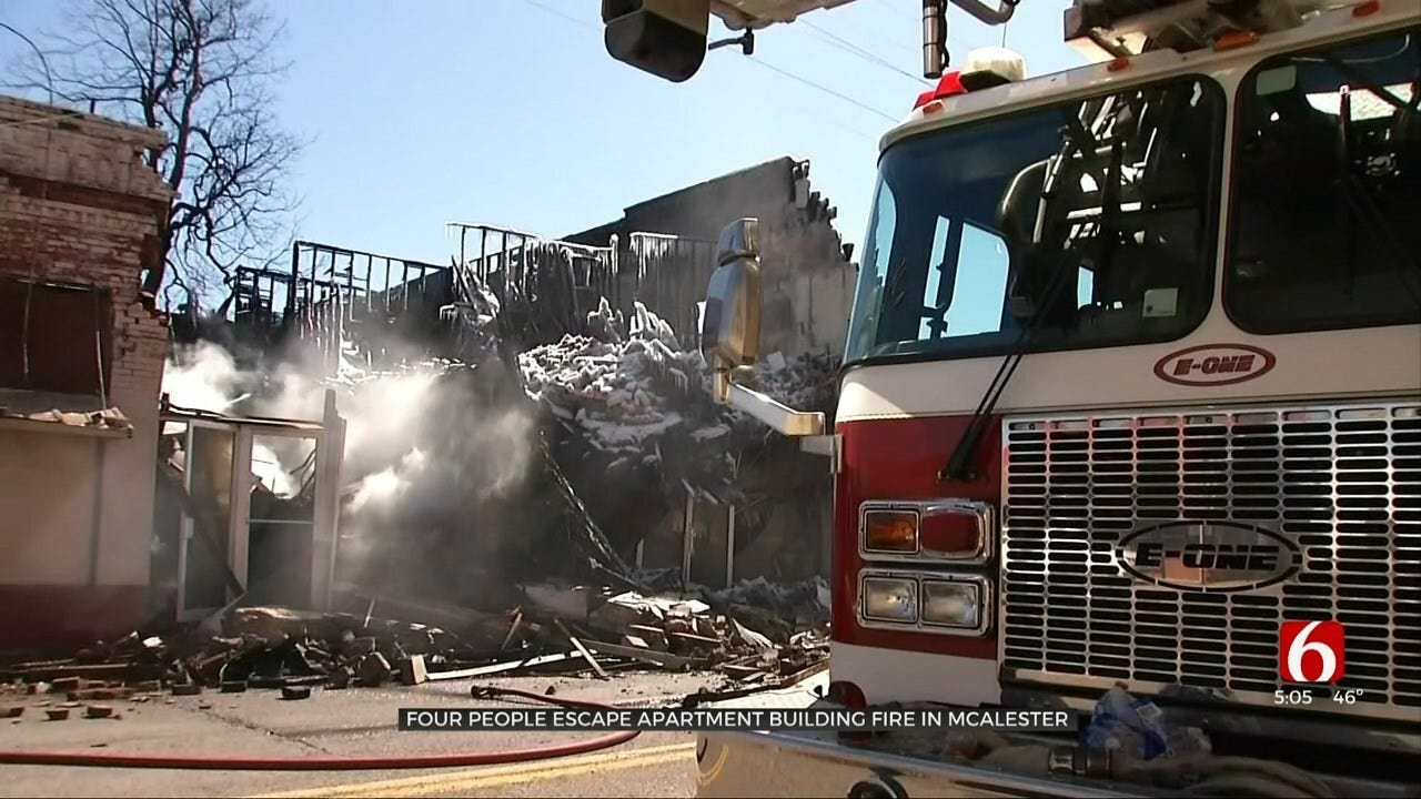 Residents Safe After Jumping Out Windows To Escape McAlester Fire
